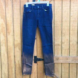 Women's Gap Legging Jean size 26R Metallic Bottom